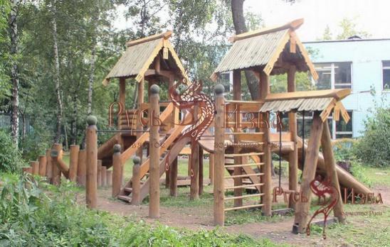 Детские площадки своими руками из дерева и бревен фото 81