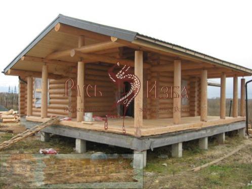 деревянные бани с верандой